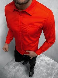 Koszula ozonee.pl z długim rękawem z bawełny