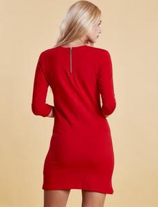 Czerwona sukienka Factory Price z bawełny