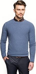 Niebieski sweter recman w stylu casual