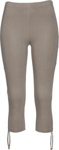 Brązowe legginsy bonprix bpc selection w stylu casual