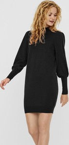 Czarna sukienka WARESHOP mini z bawełny z długim rękawem