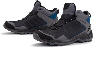 Czarne buty trekkingowe Adidas z goretexu sznurowane