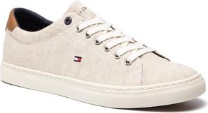Tenisówki TOMMY HILFIGER - Seasonal Textile Sneaker FM0FM02204 White 100