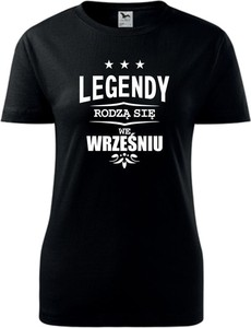 Czarny t-shirt TopKoszulki.pl z okrągłym dekoltem w młodzieżowym stylu z bawełny