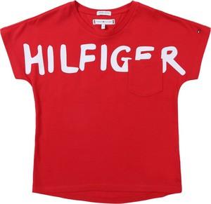 Czerwona bluzka dziecięca Tommy Hilfiger
