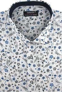 Koszula Koneser z włoskim kołnierzykiem z krótkim rękawem z tkaniny
