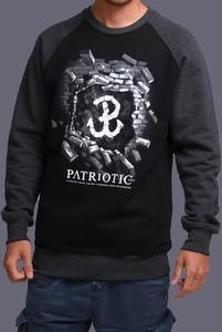 Bluza Patriotic z bawełny z nadrukiem
