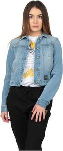 Niebieska kurtka Versace Jeans krótka