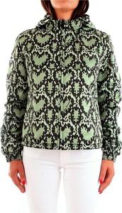Zielona kurtka Love Moschino krótka w stylu casual
