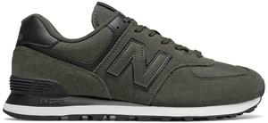 Zielone buty sportowe New Balance ze skóry