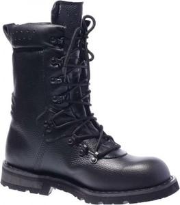 Czarne buty zimowe MFH ze skóry