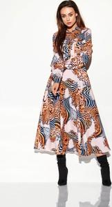 Sukienka Lemoniade z długim rękawem szmizjerka midi