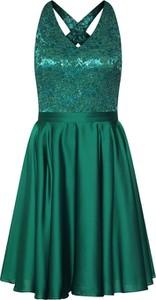Sukienka Swing mini z szyfonu bez rękawów