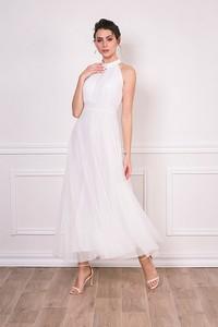 Sukienka Bain De Nuit z dekoltem halter maxi