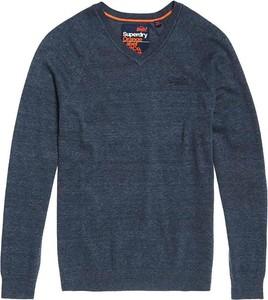 Niebieski sweter Superdry w stylu casual