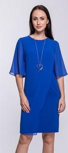 Sukienka Semper z okrągłym dekoltem mini z krótkim rękawem