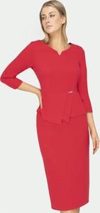 Czerwona bluzka Tomasz Sar z długim rękawem