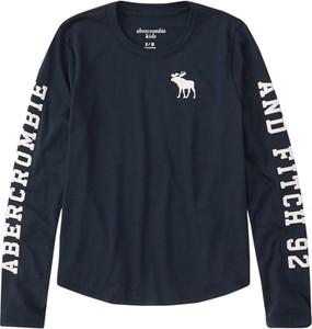 Niebieska bluzka dziecięca Abercrombie & Fitch