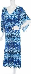 Niebieska sukienka Autograph maxi z dekoltem w kształcie litery v