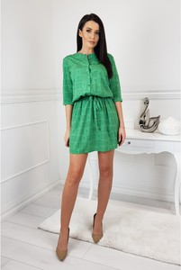 Sukienka LA BLANCHE mini z długim rękawem szmizjerka
