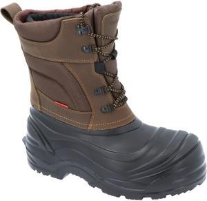 Buty zimowe Demar z nubuku sznurowane