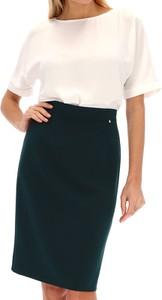 Zielona spódnica L'AF z tkaniny w stylu casual