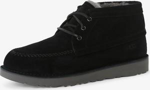 Czarne buty zimowe UGG Australia z weluru