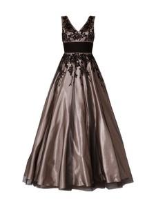 Sukienka Niente w stylu glamour z dekoltem w kształcie litery v bez rękawów
