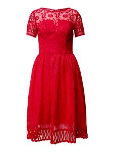 Czerwona sukienka Chi Chi London z krótkim rękawem