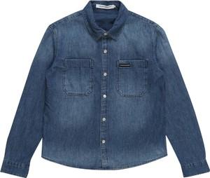 Niebieska koszula dziecięca Calvin Klein z jeansu