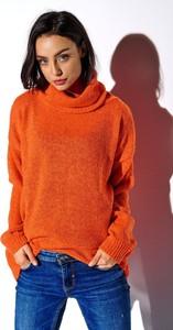 Pomarańczowy sweter Merg w stylu casual