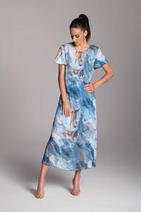 Sukienka Tarionus S.c. z szyfonu maxi trapezowa