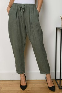 Spodnie La Fabrique Du Lin z lnu