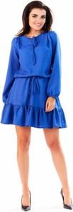 Niebieska sukienka Infinite You mini