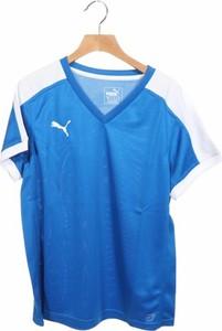 Niebieska bluzka Puma z krótkim rękawem w sportowym stylu