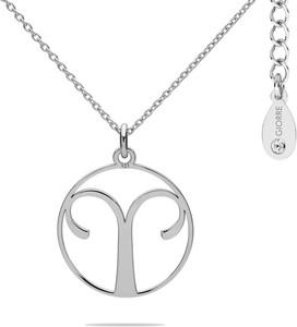 Hebe Naszyjnik znak zodiaku BARAN 925 z kryształem Swarovskiego srebro 925 : Kolor pokrycia srebra - Pokrycie Jasnym Rodem