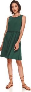 Zielona sukienka Top Secret bez rękawów mini