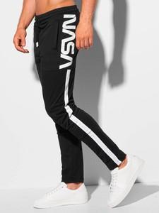 Czarne spodnie sportowe Edoti z dresówki w sportowym stylu