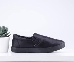 Czarne trampki dziecięce Yourshoes