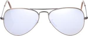 Srebrne okulary damskie Ray-Ban