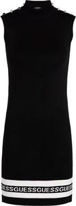 Czarna sukienka Guess bez rękawów w stylu casual