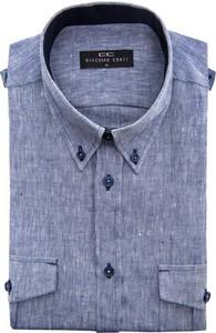 Niebieska koszula giacomo conti z krótkim rękawem