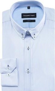 Niebieska koszula giacomo conti z długim rękawem