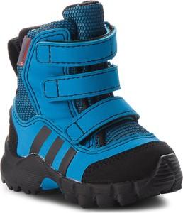 Niebieskie buty dziecięce zimowe Adidas