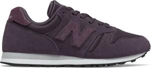 Fioletowe buty sportowe New Balance 373 w sportowym stylu z zamszu