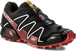 Czarne buty sportowe salomon ze skóry ekologicznej