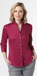 Fioletowa bluzka Franco Callegari z długim rękawem z bawełny