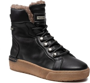 Czarne buty sportowe PIKOLINOS ze skóry sznurowane