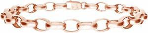 GIORRE Srebrny gruby choker satynowany 925 : Kolor pokrycia srebra - Pokrycie Różowym 18K Złotem