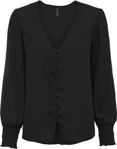 Czarna bluzka bonprix z dekoltem w kształcie litery v